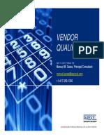 Vendor Qualification 2016