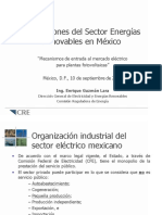 REGULACIÓN DEL SECTOR DE ENERGIAS RENOVABLES EN MÉXICO
