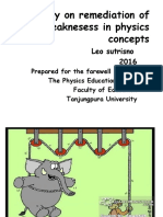 1. Study on Remediation of Weaknesess in Physics Concepts