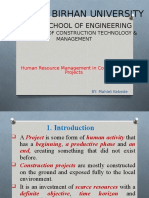 4. HRM in Const Projects DBU