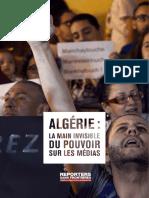 Rapport RSF sur les médias en Algérie