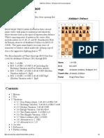 Alekhine's Defence - Wikipedia, The Free Encyclopedia
