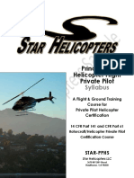 Star Helicopters Private Pilot Syllabus Sample