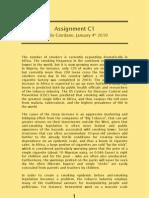 Assignment c1 -- Manlio Giordano -- 040110
