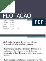 FLOTAÇÃO