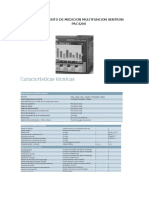Instrumento de Medicion Multifuncion Sentron Pac4200