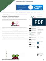 Instalando Raspbian en Raspberry