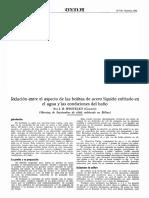 1928-10-Relacion Entre El Aspecto de Las Bolitas de Acero Liquido Enfriado en El Agua y Las Condiciones de Baño