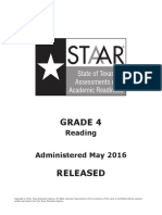 Staar g4 2016test Read f