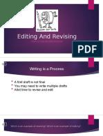 editing and revising  2