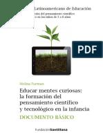 Furman M - Educar mentes curiosas La formación del pensamiento cientifico y tecnologico en la infancia 2016  .pdf