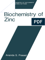 (Biochemistry of the Elements 11) Ananda S. Prasad (Auth.)-Biochemistry of Zinc-Springer US (1993) (1)