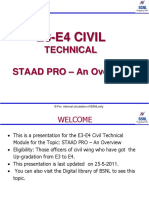 E3-E4 Civil Ppt_E3 E4 Civil Technical Chapter-3 STAAD PRO- An Overview