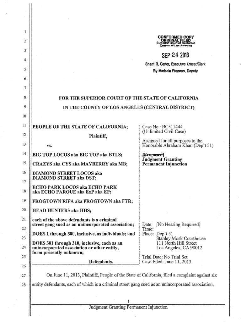echo park injunction