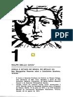 Cava, Ralph Della - Igreja e Estado No Brasil