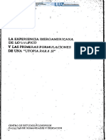 La experiencia iberoamericana de lo utopico