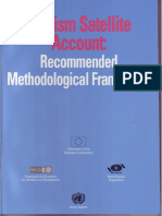 2001 Tourism Satellite Account Recommended Methodological Framework