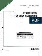 HP 3325A Operating Manual