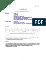 API-164 Energy Policy Analysis