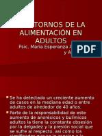 TRASTORNOS DE LA ALIMENTACIÓN EN ADULTOS