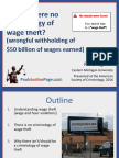 No Criminology of Wage Theft? (wrongful withholding of $50 billion of wages earned)