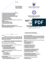 NAT Reviewer Critical Thinking