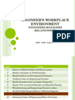 Engineer's Workplace Environment