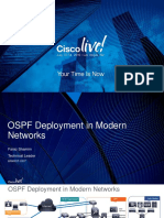 OSPF Deployment in Modern Networks