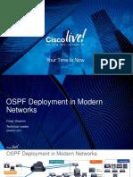 OSPF Deployment in Modern Networks
