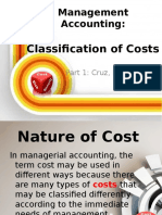 Classification of Costs and CVP Cruz Manzano Asi