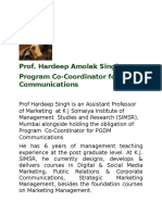 Prof Hardeep Singh