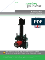 Acvoke Standard Cable Spiker Datasheet