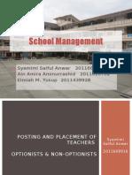 Efficiency in School Management