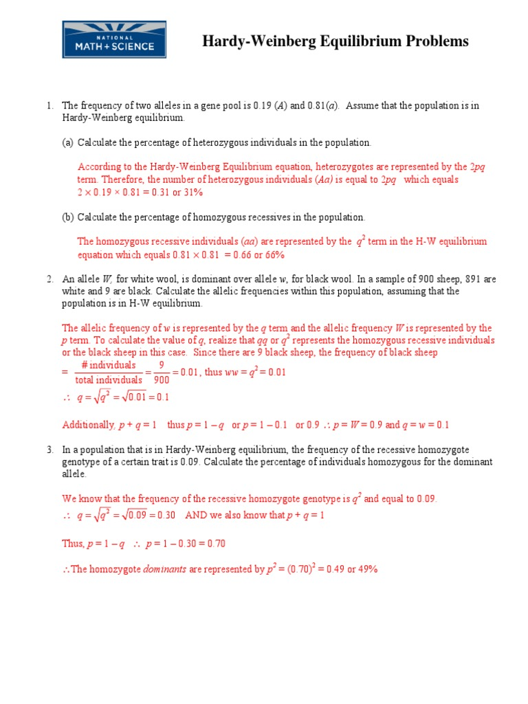 Uncategorized Hardy Weinberg Practice Problems Worksheet With