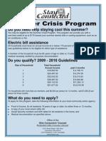 Summer Crisis Program Poster