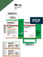 Amoxgentin - Amoxycillin & Potassium Clavulanate Injection - Export 600mg I.v - InFO
