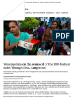 (December 15 2016) Venezuelans on the removal of the 100-bolivar note_ 'thoughtless, dangerous' _ World news _ The Guardian.pdf