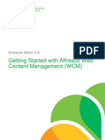 Alfresco Enterprise Edition Getting Started With WCM
