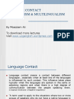 Lang Contact Bi and Multilingualism