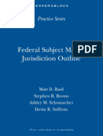 Federal 20Subject 20Matter 20Jurisdiction 20Outline Jenner 20-26-20Block 0611