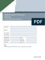 System, Preventive Maintenance Protocol CSTD M7-030.805.01 M7-010.832.05