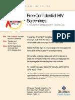 2010 HIV Testing Day Flyer