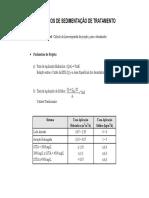 1_6 Principios de Sedimentação Processo de Tratamento