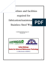 Guidelines and Facilities Required for Fabrication Maintenance of Stainless Steel Wagons