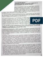 Declaración pública frente a huelga de hambre de la machi Francisca Linconao