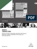Behringer Mixer XENYX1204FX