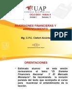 Semana 1-Inversiones Financieras - Sistema Financiero Productos Bancarios