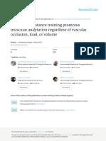 2015 Barcelos Et Al Low-load Resistance Training Promotes Muscular Adaptation Regardless of Vascular Occlusion, Load, Or Volume