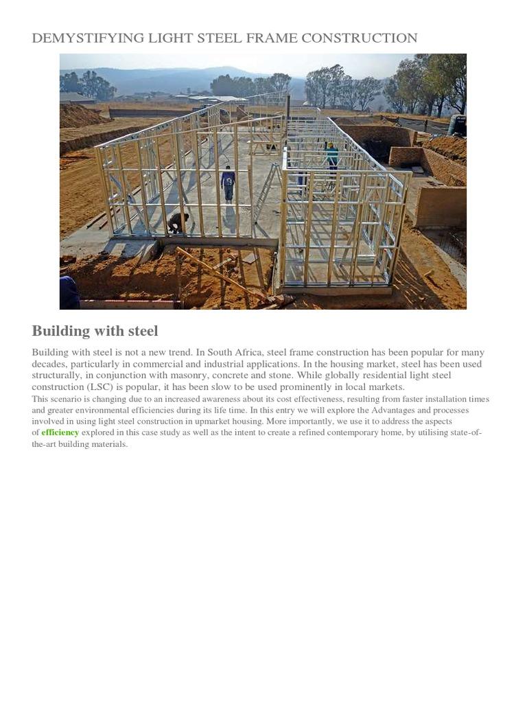 Demystifying Light Steel Frame Construction | Framing (Construction ...