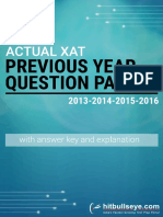 XAT 4 Year Paper